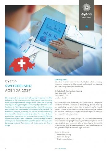 EyeOn Switzerland agenda for 2017